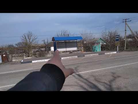 Ураганные ветра в Крымской степи.Раскрыло магазин.