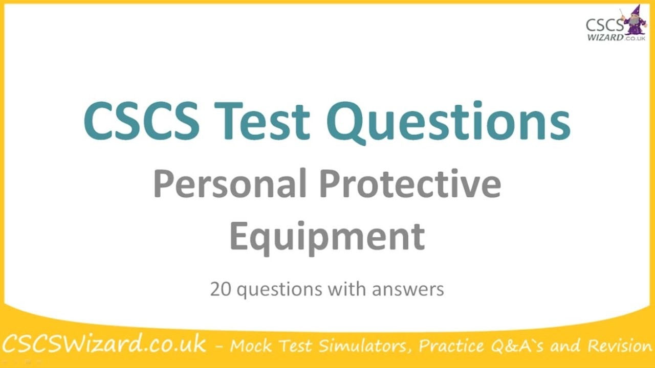 How To Practice With CSCS Test Questions Videos