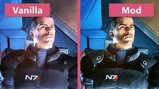 Mass Effect – Original vs. Mod Remaster Graphics Comparison