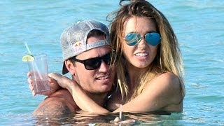 Audrina Patridge thrills in mismatched bikini as she frolics in sea with boyfriend in Mexico