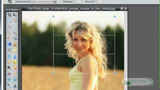 Как уменьшить и обрезать фото. Онлайн-фотошоп.mp4