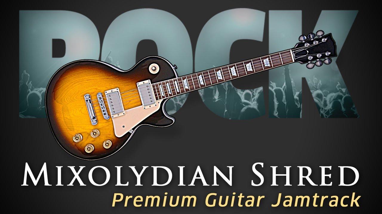 top shred guitar jamtrack guitar solo lesson mixolydian youtube. Black Bedroom Furniture Sets. Home Design Ideas