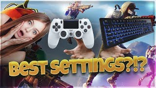BEST Fortnite Keybindings & Settings For PLAYERS With Small & Big Hands! ( PC, Xbox, PS4 )