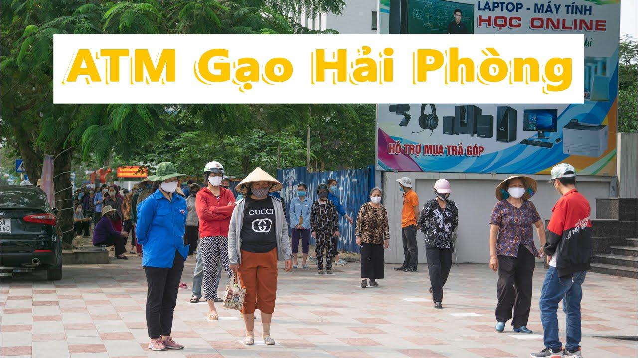 Xúc động cảnh hàng trăm người xếp hàng tại ATM Gạo Đầu Tiên ở Hải Phòng