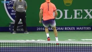 Sock Hits Tweener Lob In Shanghai 2016