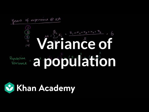 Variance of a population | Descriptive statistics | Probability and Statistics | Khan Academy