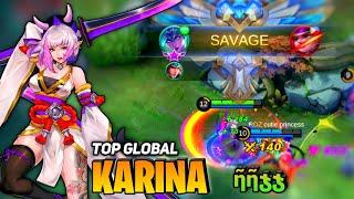 SAVAGE Perfect! Karina Full Damage Build [Top Global Karina] By ῆῆჯჯ - Mobile Legend