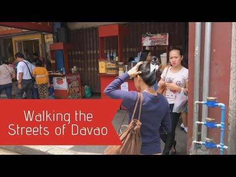 Walking the Streets of Davao City Philippines