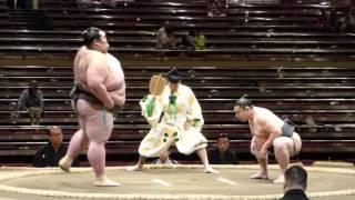 Kenho (3-1) - Satonofuji (2-2) , Sumo : Natsubasho '15