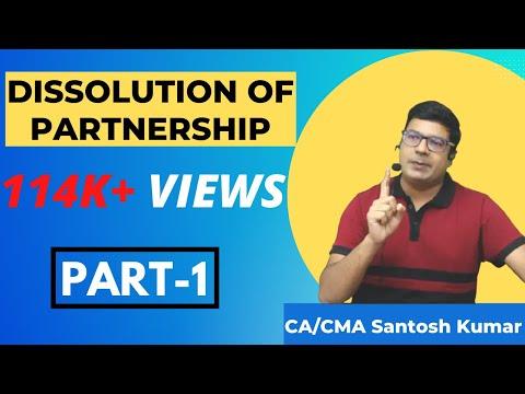Dissolution of Partnership  ( solvency of partners)  by santosh kumar ( CA/CMA)