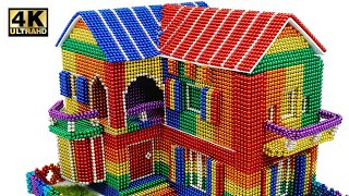 dIY - How To Build Mini Villa Model From Magnetic Balls (Satisfying) | Magnet World Series