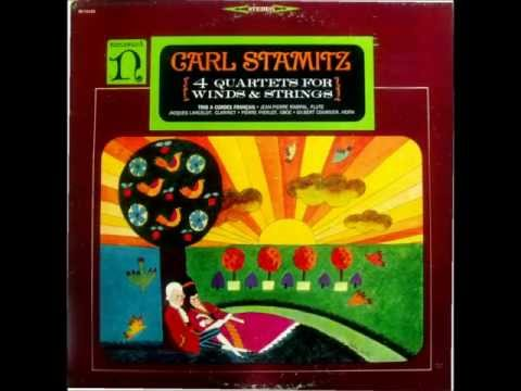 Carl Stamitz: 4 Quartets for Winds & Strings (1966 LP)