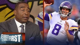 Cris Carter on how much better Kirk Cousins will make the Vikings | NFL | FIRST THINGS FIRST