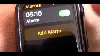 How to Set Alarm Clock on Apple Watch with Alarms app
