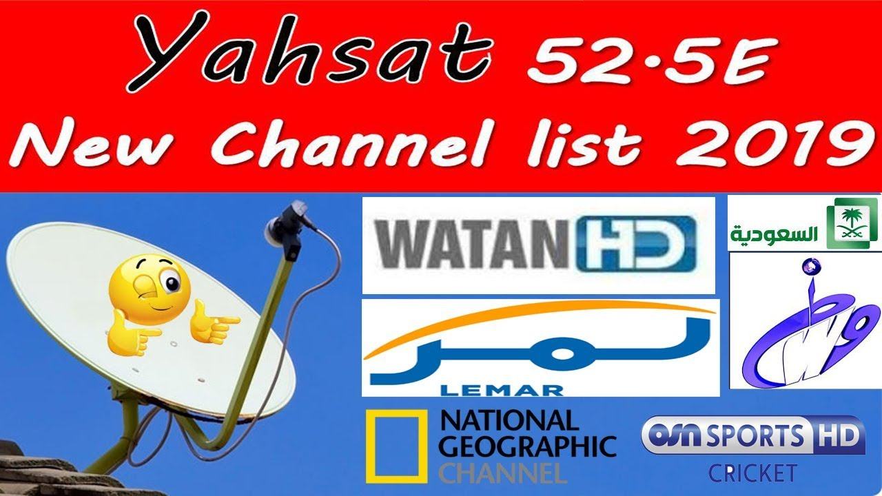 Yahsat 52East 2019 New Updated Channels List