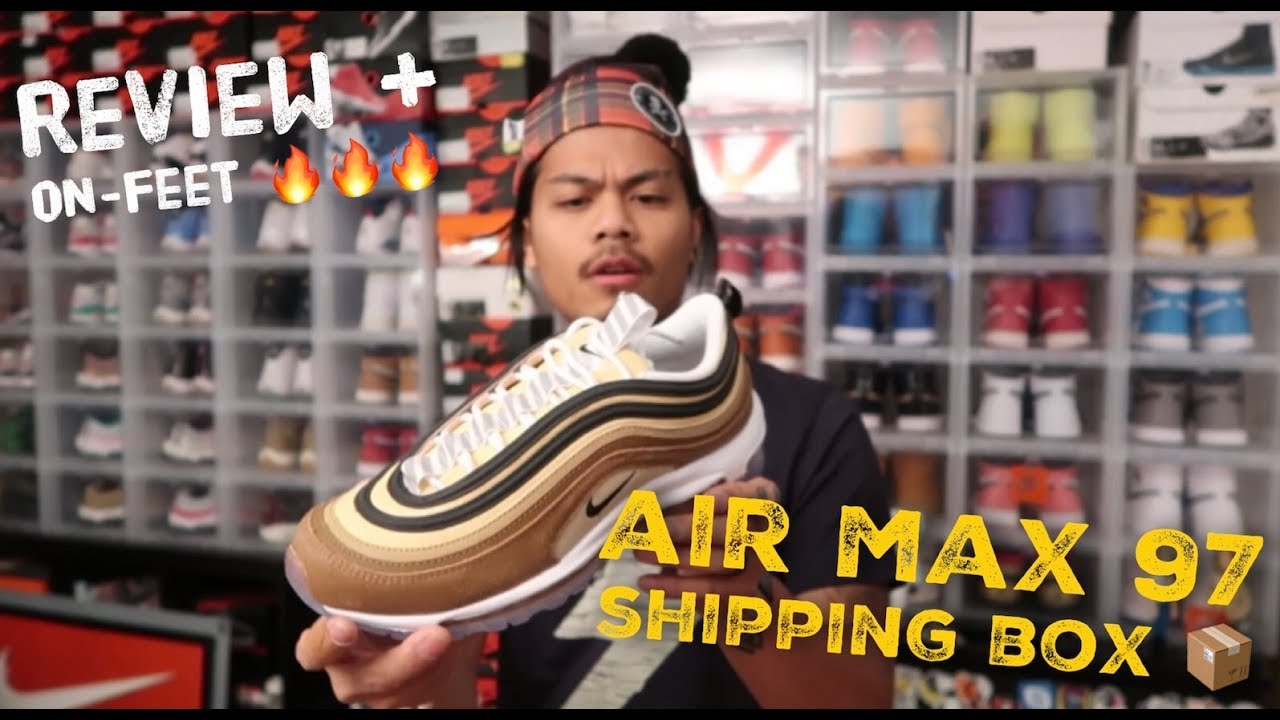 new released nike air max 97 shipping box