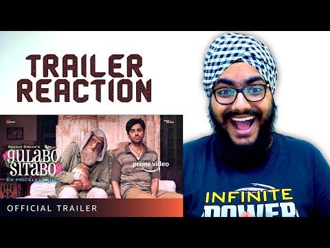 Gulabo Sitabo Trailer REACTION | Amitabh Bachchan, Ayushmann Khurrana | Shoojit, Juhi | June 12