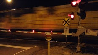 Union Pacific #7756 Freight Train at Athens Avenue Railroad Crossing High Speed (Lincoln, Ca)