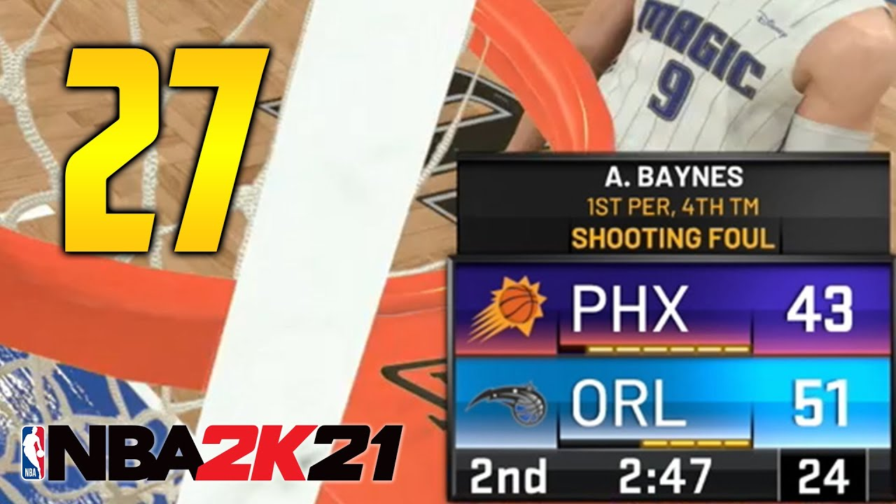 "NBA 2K21 MyCareer: Gameplay Walkthrough - Part 27 ""MAGIC VS SUNS"" (My Player Career)"