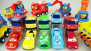 Disney Cars Tayo bus toys 타요 뽀로로 디즈니카 장난감놀이