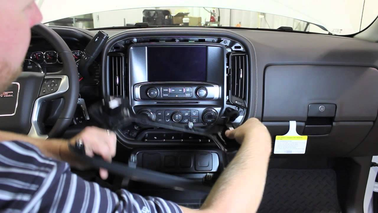 Amp Meter Wiring Diagram For Chevy 2014 Silverado Screen Removal Youtube
