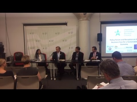 Policy Forum: 'Business Case for a Sustainable Economy' Panel 3