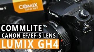 Commlite LumixGH4 Canon EF EF-S Lens - Unboxing - Filmmaking