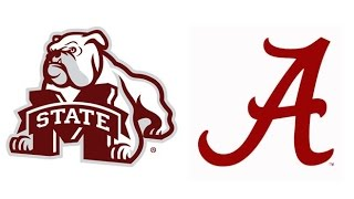 2014 #1 Mississippi State at #5 Alabama (Highlights)