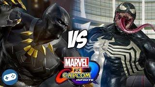 Black Panther VS Venom Marvel vs Capcom Infinite Gameplay