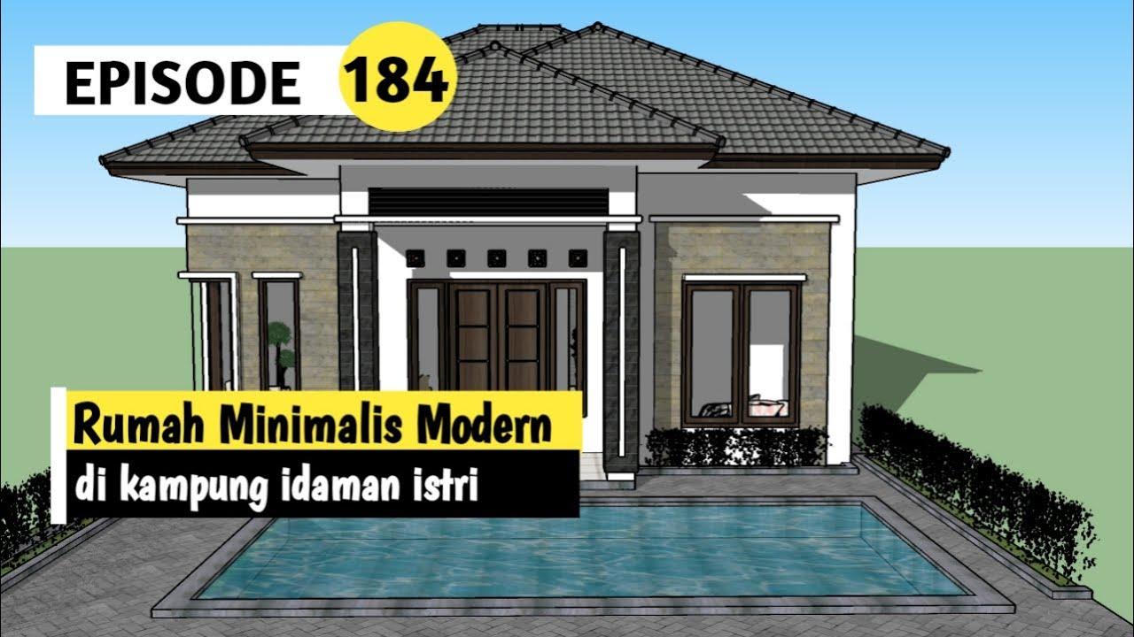 Rumah Minimalis Modern Di Kampung Youtube Desain rumah kampung modern