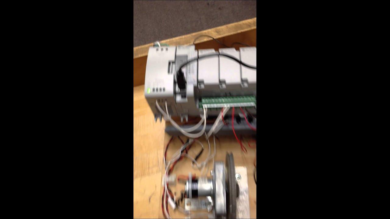 Allen Bradley Micro 850 PLC, automatically turn on fan at 116F