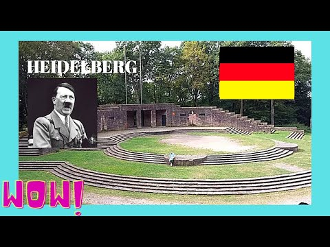 HEIDELBERG, rarely seen 1930s amphitheater, by the National Socialists (GERMANY)