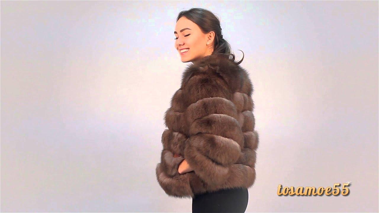 Меховое пальто из чернобурки №131 tosamoe55.ru - YouTube