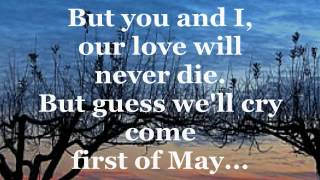 Video FIRST OF MAY (Lyrics) - THE BEE GEES download MP3, 3GP, MP4, WEBM, AVI, FLV September 2017