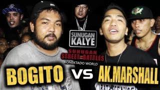 SUNUGAN KALYE - BOGITO vs AK MARSHALL   BALAYAN BATANGAS