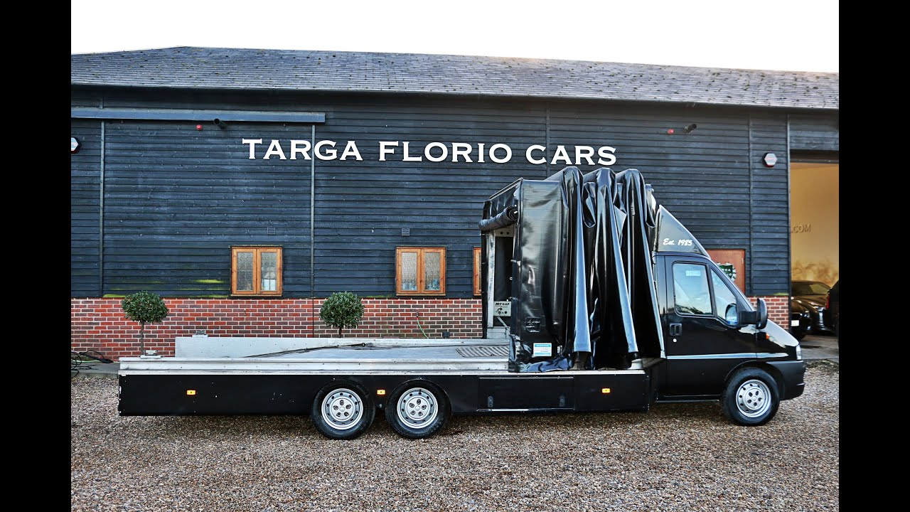 fiat ducato 18 jtd curtainsider specialist car transporter for sale at targa florio cars in. Black Bedroom Furniture Sets. Home Design Ideas