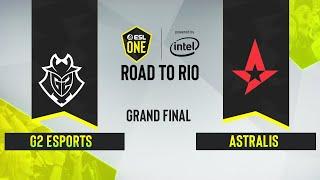CS:GO - Astralis vs. G2 Esports [Nuke] Map 1 - ESL One: Road to Rio -  Grand Final - EU
