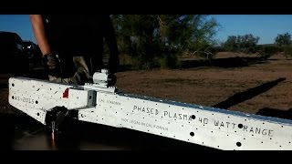 Electromagnetic Plasma Rifle Test Fire