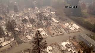 Drone video shows NorCal wildfire devastation