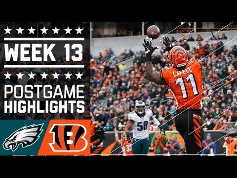 Eagles vs. Bengals | NFL Week 13 Game Highlights