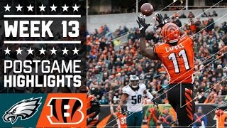 Eagles vs. Bengals | NFL Week 13 Game Highlights