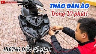 Tháo dàn áo Exciter 150 trong 10 phút ▶ Cách Vệ sinh xe máy đúng cách!
