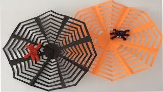 Como hacer una telaraña.  telaraña para Halloween.