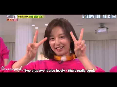 Running Man Episode 297 - Kim Ji-won gwiyomi cute challenge