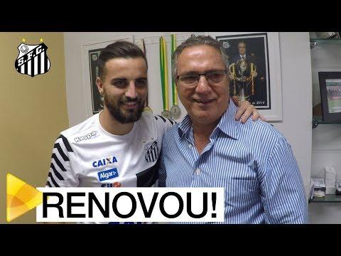 Rafael Longuine renova com o Santos FC