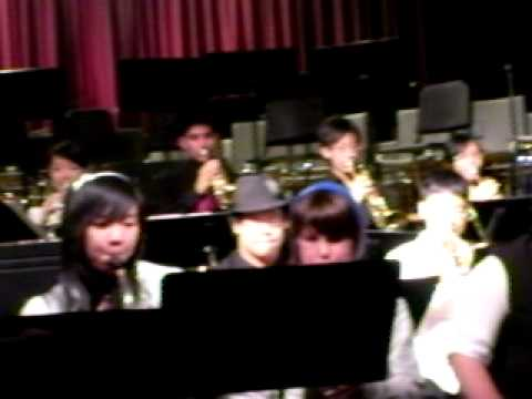 Jonathan, Highschoold jazz band concert, June 2011, Blues in the closet