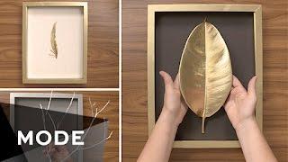 DIY: Aprenda a fazer belos quadros para parede de modo muito fácil