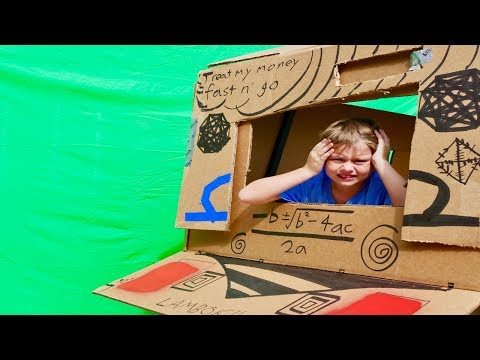 Ridiculous Nicholas Mobile Box Fort Nerf Battle Car