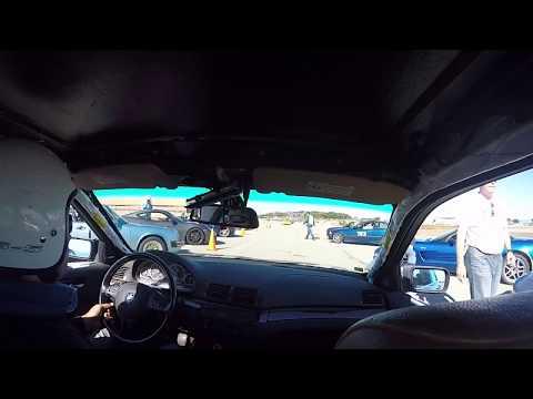 FCM BMW 330i autox LPR Porsche - Kill-a-Cone - Morgan Autism Center - Run 3