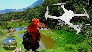 Drone Fimi X8 Voando No Sítio